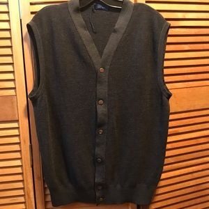 Jeff Rose Charcoal Knitted Buttoned Front Vest